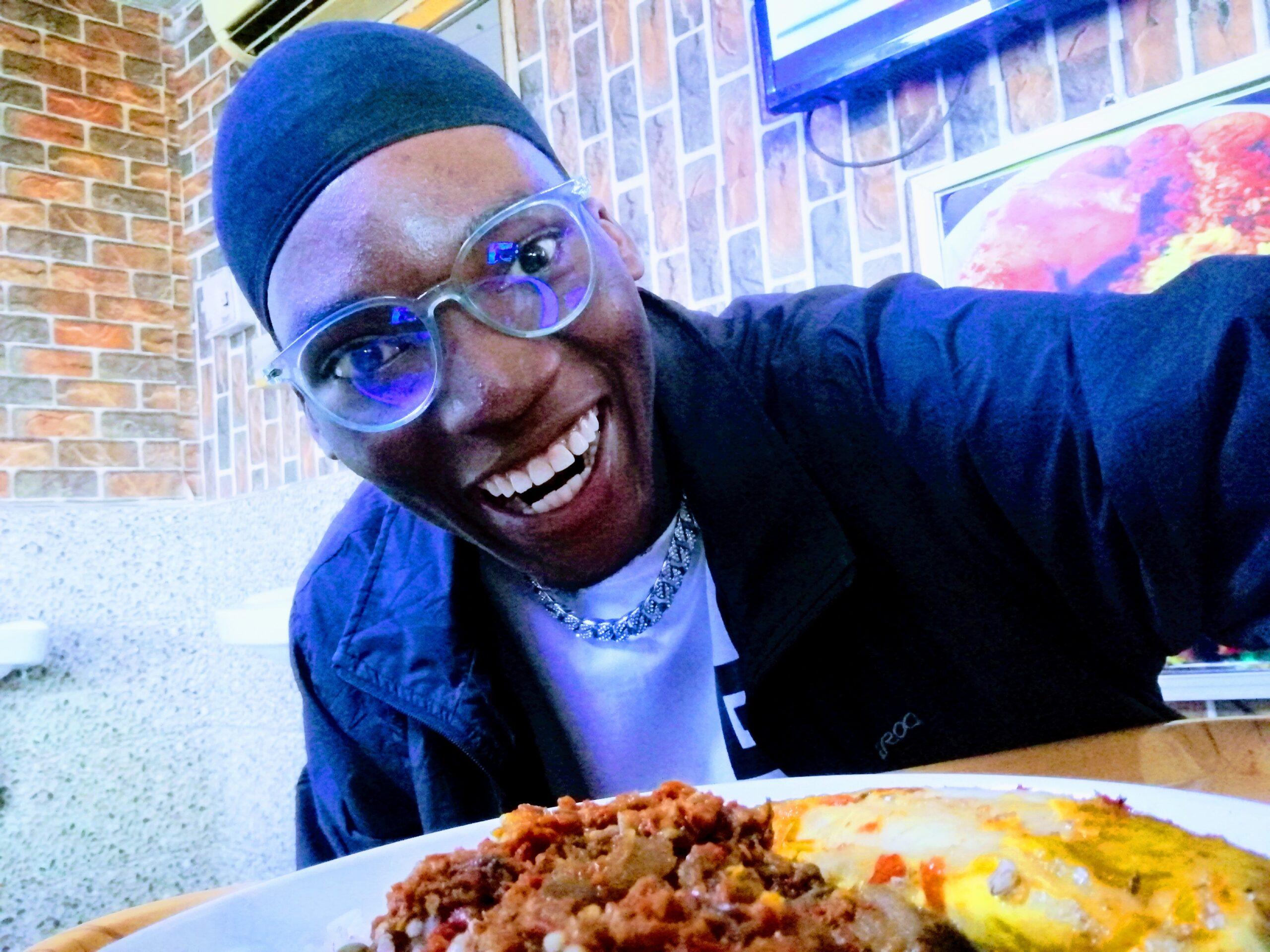 Ayoola Daniel at snail cafe restaurant